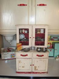 Hoosier Kitchen Cabinet Tracys Toys And Some Other Stuff Antique Toy Kitchen Cupboard