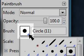 The free gnu image manipulation program has a paths tool that assists with drawing shapes. A Gimp Brushes Tutorial How To Modify Create Brushes Using Gimp