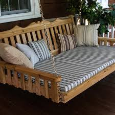 a l furniture royal english 4 foot cedar outdoor swing bed with cushion