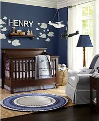 baby room ideas for a boy. I Love The Dark Blue Walls With Cloud Decals, Such A Great Idea. Baby Room Ideas For Boy B