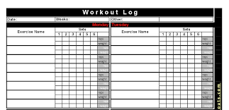 Weight Exercise Chart Free 46 Veritable Printable Resistance Band Exercise Chart