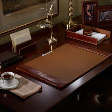 limited ion design stock luxury ralph lauren saddle brown king crocodile embossed leather desk pad 27 x 17 inches partner desk set items