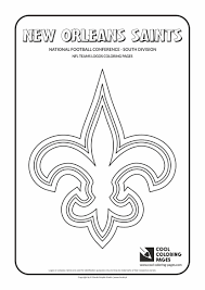cool coloring pages nfl teams logos new orleans saints with nfl coloring pages