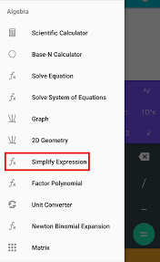simplify expression tutorial using calculator n open source