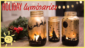 Mason Jar Decorations For Christmas DIY Holiday Mason Jar Luminaries YouTube 14