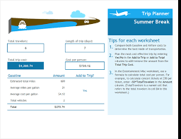 Vacation Planner Online Trip Expenses Planner