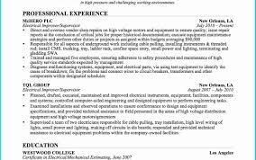 Resume Templates Apprenticeship Engineering Sales Electrical
