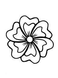 Simple Flower Coloring Pages Coloring Flowers Large Print Adult