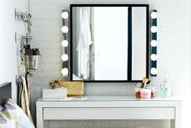 ikea lighting hack. Ikea Mirror Light Hack Bench Makeup Vanity Table With Lighted Dressing And Bathroom Bulbs Lighting