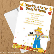 Fall Festival Party Invitations Style 2 Crafty Chick Designs