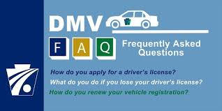 dmv faq driver vehicle services frequently asked questions