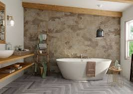 bengal beige natural stone slate effect porcelain bathroom wall floor tiles