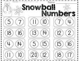Free Kindergarten Subtraction Worksheets Winter Math Subtract One ...