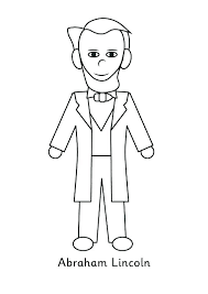 abraham lincoln coloring sheet coloring page seated