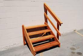 prefab deck stairs deck stair the redwood