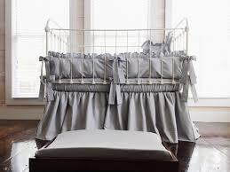 silver grey farmhouse crib bedding set