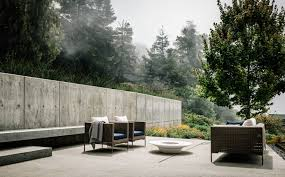 concrete pavers big sur patio by fouron architects