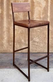 bar stools metal and wood. Wood + Metal Barstool | $255 Walnut Seat Frame Size- 15\u2033 W X Bar Stools And R