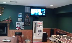 man cave. Newington-ct-tv-on-wall-in-man-cave-with-sound-system-1 Man Cave M
