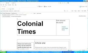 Newspaper Google Docs Template Google Docs Student Newspaper Template Article Co Elementary