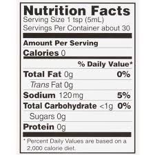 Chipotle Nutrition Chart Mcilhenny Co Tabasco Chipotle Pepper Hot Sauce Hy Vee
