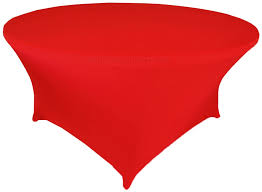 5 ft round spandex table cover red 64312 1pc pk