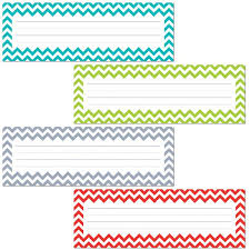 creative teaching press chevron name plates 4517