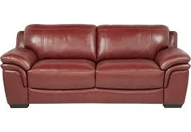 lr sof grandpalazzo red Cindy Crawford Home Grand Palazzo Red Leather Sofa $PDP Primary 936x650$