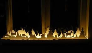 christmas window decoration ideas with garlands candles and