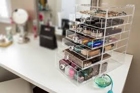 Use a makeup organizer to make your vanity look more put together. (Photo: