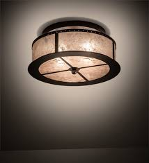 smythe craftsman flush mount lighting