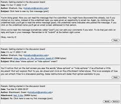 Example Of Blackboard Discussion Forums