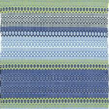 dash and albert fiesta stripe french blue green indoor outdoor rug ships free