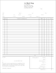 auto body repair invoice shop invoice template