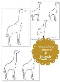 Giraffe Printable Template Printable Giraffe Shape Template From Printabletreats Com Patterns