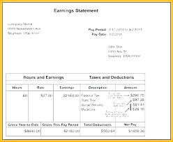 Payroll Pay Stub Template Free Employee Pay Stub Template