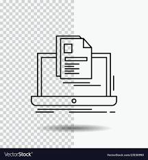 resume print account laptop report print resume line icon on vector image