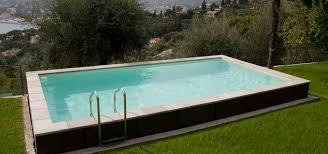 semiinground swimming pool wooden outdoor semi inground pools w64