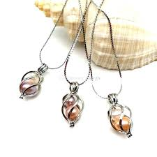 novelty jewelry whole love pearl necklace open hollow twisted pendant silver from meaning