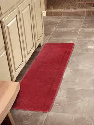 red runner rug softy collection red color solid mat rug plain soft quality bath mats washable rubber back toilet rugs