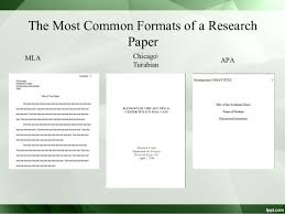 Chicago Format Research Paper Research Paper Sample