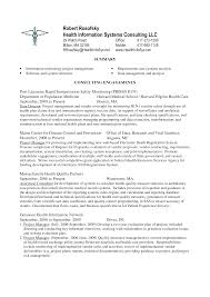 Health Information Management Resume Healthcare Informatics Him