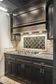 Kitchen Ideas For Kitchen Backsplash And Dark Wood Individual