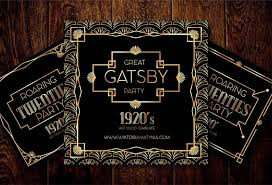 Great Gatsby Invitation Template 055 Great Gatsby Invitation Templates Vector Template