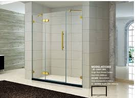 best frameless hinged bath shower glass screen with adjustment hinge 60 in w
