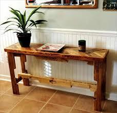 sofa table ideas. DIY Recycled Pallet Side Table Sofa Ideas