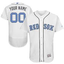 Red Made Jersey Sox Custom