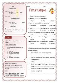 Amazing Future Tense Going To Worksheets And Near In Simple ...