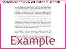 Education In Schools Essay Mandatory Physical Education In Schools Essay Coursework Help