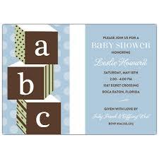 Abc Baby Shower Invitations Abc Ba Shower Invitation And Decoration